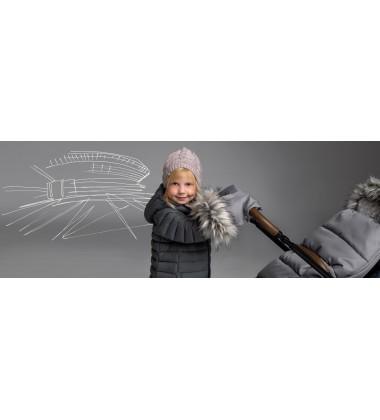 Beztroska vėžimėlių mova rankoms rudeniui / žiemai. Spalva šviesiai pilka