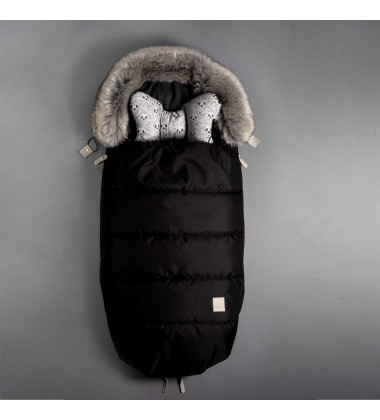 Beztroska vokas į vėžimėlį rudeniui / žiemai. Spalva juoda  ( dydis 100cm )