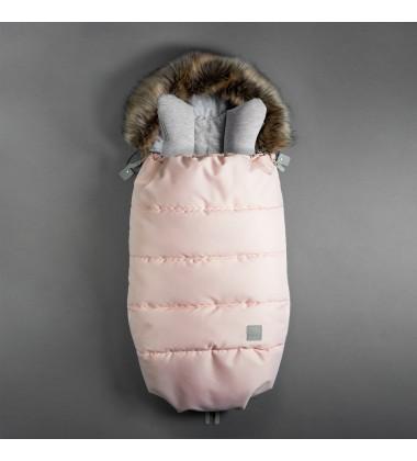 Beztroska vokas į vėžimėlį rudeniui / žiemai. Spalva rožinė  ( dydis 110cm )