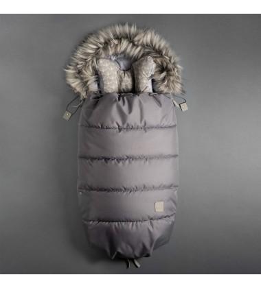 Beztroska vokas į vėžimėlį rudeniui / žiemai. Spalva šviesiai pilka ( dydis 100cm )