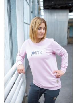 Tuss moteriškas džemperis. Spalva švelniai rožinė