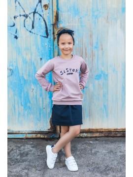 """Tuss vaikiškas džemperis """"Sister"""". Spalva šviesiai rožinė"""