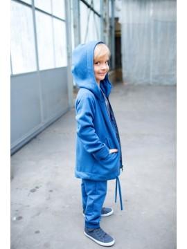 Tuss vaikiškas džemperis su užtrauktuku. Spalva mėlyna