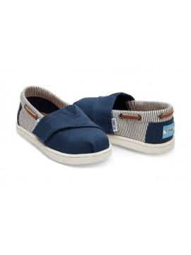 TOMS DOT KID'S BIMINI batukai ( dydžiai 23.5-28.5). Spalva tamsiai mėlyna / dryžuota mėlyna su baltu