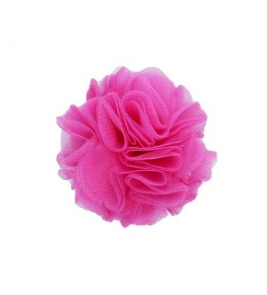 Manufaktura Falbanek segtukas su pomponu. Spalva ryškiai rožinė