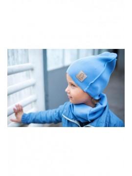 Tuss vaikiškas komplektukas (kepuraitė + šalikėlis) . Spalva  žydra