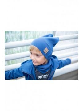 Tuss vaikiškas komplektukas (kepuraitė + šalikėlis) . Spalva  mėlyna