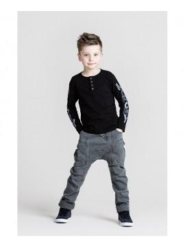 Monomy džinsai berniukams. Spalva pilka. Dydžiai 116-140 cm