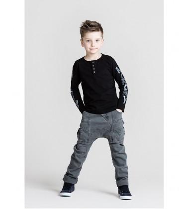 Monomy džinsai berniukams. Spalva pilka. Dydžiai 98-110 cm