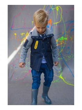Monomy švarkelis berniukams. Spalva mėlyna/pilka. Dydžiai 98-110cm