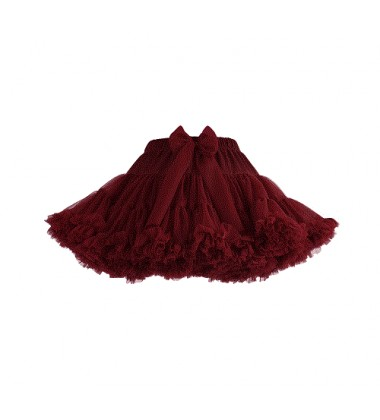 Manufaktura Falbanek tiulio sijonas. Spalva bordinė