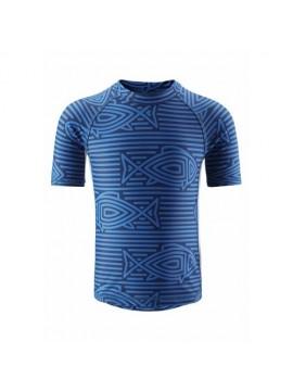 Reima marškinėliai Fiji. Spalva mėlyna su žuvim