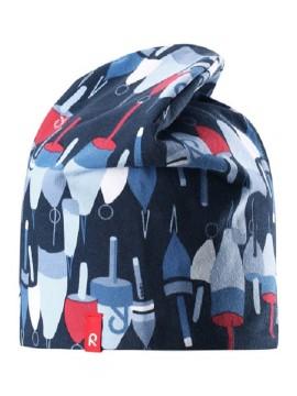 Reima pavasario kepurė Frappe. Spalva mėlyna su printu