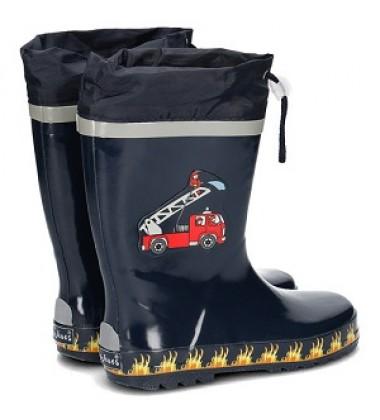Playshoes guminiai botai. Spalva tamsiai mėlyna su gaisrininkais