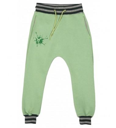 Monomy laisvalaikio kelnės. Spalva žalia. Dydžiai 98-110 cm