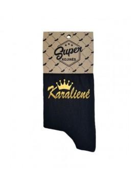 """Super kojinės moterims """"Karalienė"""". Spalva juoda"""