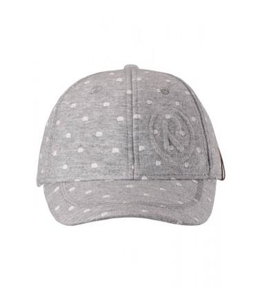 Reima kepurė su snapeliu LYKKE. Spalva pilka su baltais taškeliais