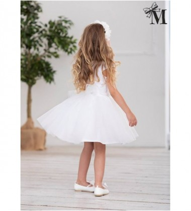 MałaMi pūsta suknelė. Spalva balta