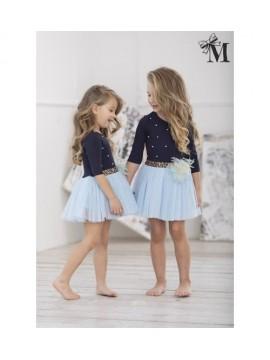 MałaMi suknelė mėlyna su pūstu sijonuku