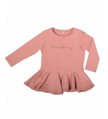 Monomy marškinėliai. Spalva rožinė. Dydžiai 86-110 cm