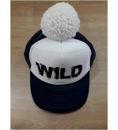 "Nelaland kepurytė "" WILD '' su baltu bumbulu. Spalva tamsiai mėlyna / balta"