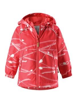 Reimatec pavasario / rudens  su pašiltinimu striukė Hete. Spalva raudona su printu