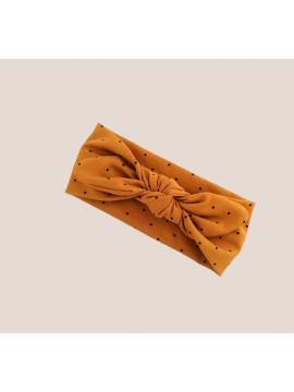 Šponkės galvos juostelė. Spalva garstyčių su juodais taškeliais