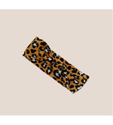 Šponkės plati galvos juostelė. Spalva garstyčių leopardas