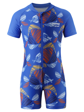 Reima maudymosi kostiumėlis ODESSA. Spalva mėlyna su spalvotomis žuvytėmis