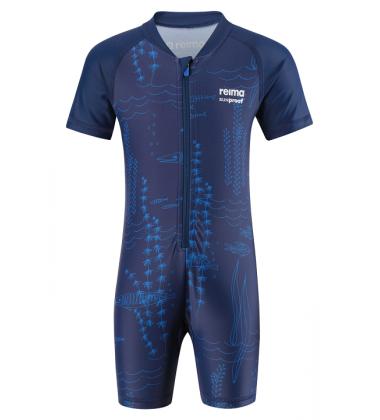Reima maudymosi kostiumėlis ODESSA. Spalva tamsiai mėlyna žuvytėmis