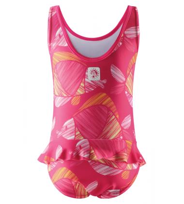 Reima maudymosi kostiumėlis CORFU. Spalva ryški rožinė su žuvytėmis