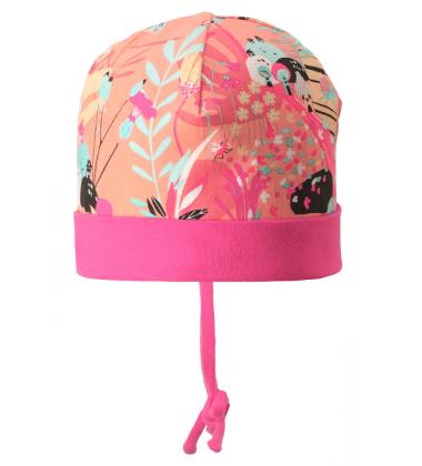 Reima pavasario kepurė su raišteliais Huvi. Spalva rožinė