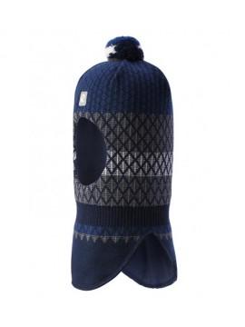 Reima žiemos šalmukas Valittu. Spalva tamsiai mėlyna su printu