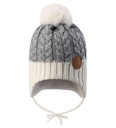Reima kepurė Pakkas. Spalva pilka / balta