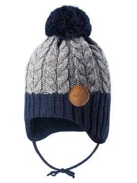 Reima kepurė Pakkas. Spalva pilka / tamsiai mėlyna