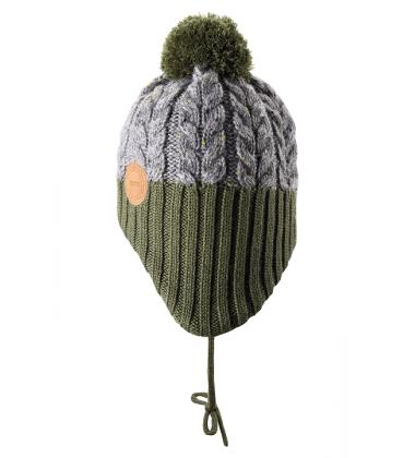 Reima kepurė Pakkas. Spalva pilka / žalia