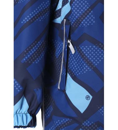 Reimatec® demisezoninis kombinezonas TRAFFIC. Spalva tamsiai mėlyna su įvairiaspalviu printu