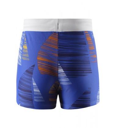 Reima plaukimo šortukai TONGA. Spalva mėlyna su oranžiniu / geltonu printu