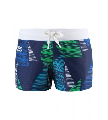 Reima plaukimo šortukai TONGA. Spalva mėlyna su žaliu printu