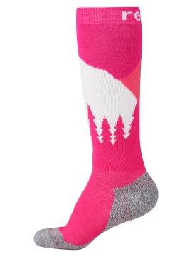 Reima kojinės Ski Day. Spalva rožinė / balta