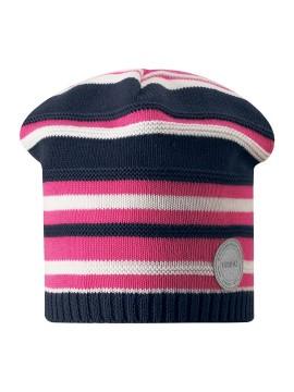 Reima pavasario kepurė RANTU. Spalva mėlyna / rožinė dryžuota_