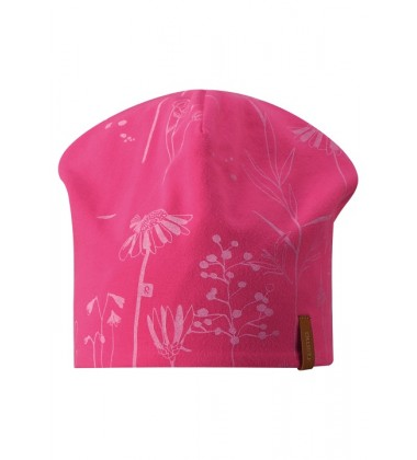 Reima pavasario kepurė Tanssi. Spalva rožinė su gėlytėmis / oranžinė