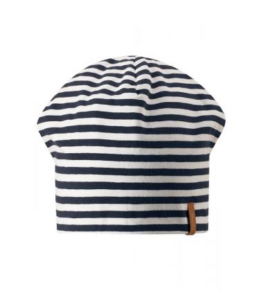 Reima pavasario kepurė Tanssi. Spalva tamsiai mėlyna dryžuota su balta / pilka