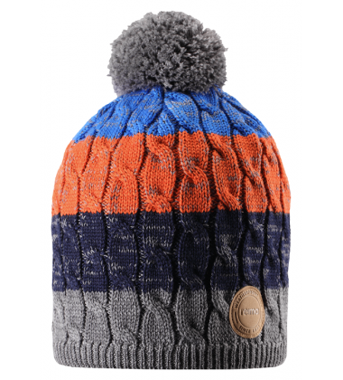 Reima kepurė Spinn. Spalva mėlyna / oranžinė / pilka