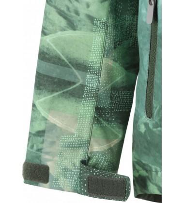 Reimatec® demisezoninė striukė Schiff. Spalva žalia su printu