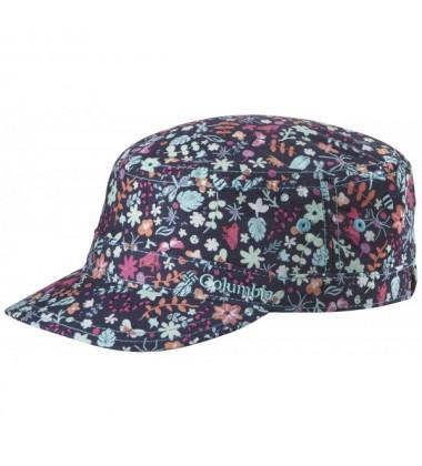 Columbia vasaros kepurė Silver Ridge mergaitėms. Spalva mėlyna / žydra / rožinė su gėlytėmis