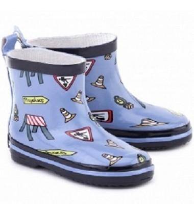 Playshoes guminiai botai. Spalva žydra su piešinias
