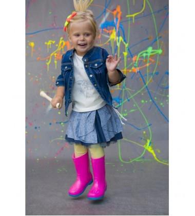 Monomy sijonas. Spalva pilka/mėlyna. Dydžiai 86-110 cm