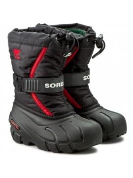 Sorel žiemos batai FLURRY. Spalva juoda/ raudona