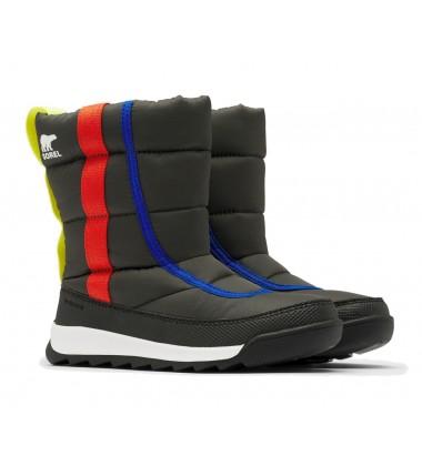 Sorel žiemos batai YOUTH WHITNEY II PUFFY MID. Spalva juoda / oranžinė